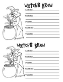 Witches Brew 5 Senses Writing
