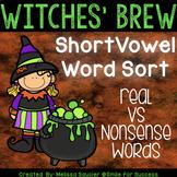 Short Vowel CVC Sort | Real Vs. Nonsense Words (Halloween