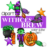 Witches Brew Clipart {Halloween Clipart}