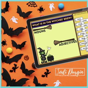 Witches' Brew Halloween Activity for Nouns and Adjectives