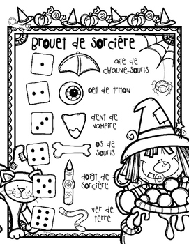 Witches' Brew French Halloween Writing