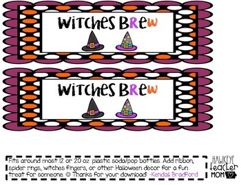 Witches Brew Halloween Drink Tag