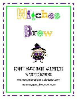 Witches Brew- Math Activities