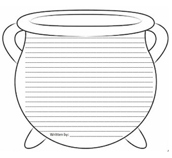 Witches Brew Poem and Cauldron Template: Halloween Fun!