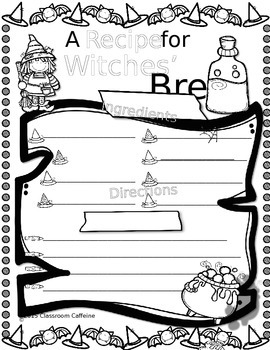 Witches Brew Recipe Paper {FREEBIE}