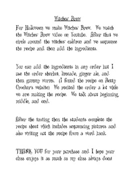 Witches' Brew Recipe Sequence