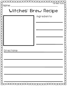 Witches' Brew Recipe Writing Prompt
