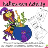 Witches Brew Word Analysis Greek Latin Prefix Suffix Roots Black White Print
