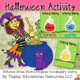 Witches Brew Word Analysis Greek and Latin SAT Prefix Suffix Root
