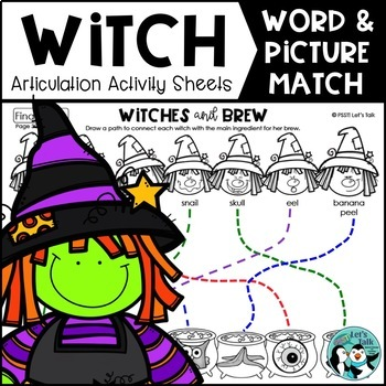 Witches & Brew: Word/Picture Match for Articulation