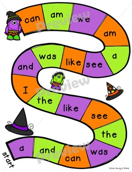 Halloween centers; alphabet matching and sight word games!