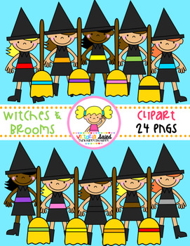 Witches & Brooms Clipart
