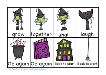 Witches CVC Word Race