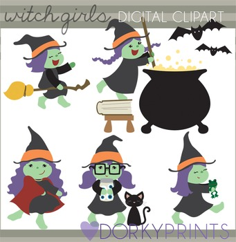 Witches Halloween Clip Art