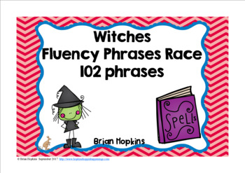 Witches Sight Word Fluency Phrases Race