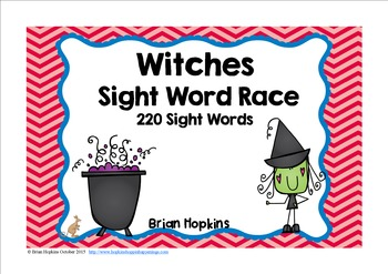 Witches Sight Word Race