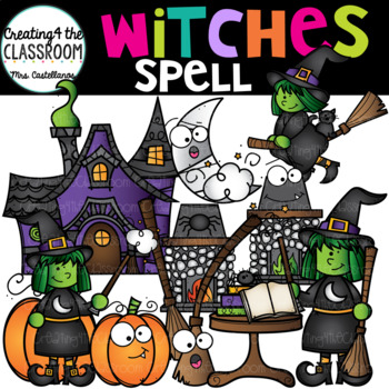 Witches Spell Clip Art {Halloween Clip Art}