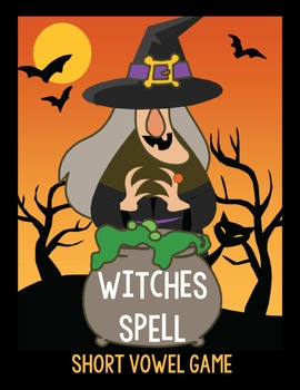 Witches Spell Halloween Short Vowel Spelling Game