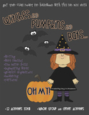 Witches and Pumpkins and Bats...OH MY! Halloween Lesson Plan