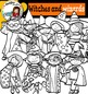 Witches and wizards- Halloween kids-