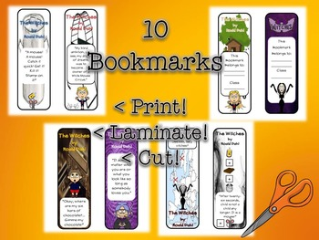 Witches by Roald Dahl Bookmarks