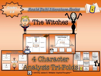 Witches by Roald Dahl Character Analysis Tri-Folds