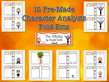 Witches by Roald Dahl Character & Plot Analysis Fold-Ems