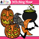 Witch Halloween Clip Art: Spooky Graphics {Glitter Meets Glue}