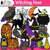 Witch Halloween Clip Art: Spooky Graphics {Glitter Meets Glue}