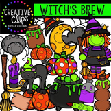 Witch's Brew: Witch Clipart {Halloween Clipart}