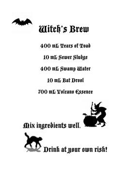 Witch's Brew Halloween Recipe