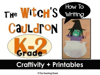 Witch's Cauldron Craftivity and Printables  (How to writing)
