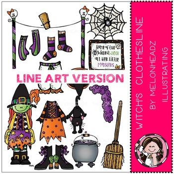 Witch's Clothesline by Melonheadz LINE ART