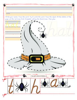Witch's Hat Tracing and Cutting - Fine Motor Skills Practice - Halloween