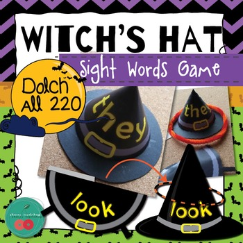 Sight Words Game -  {Witch's Hats} - Halloween Literacy Ce