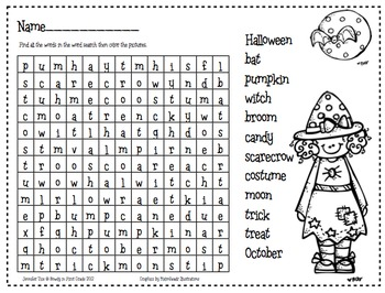 Witchy Halloween Word Search