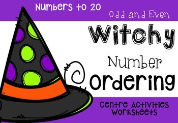 Witchy Number Ordering: Halloween themed Math {year2tastic}
