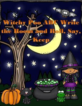 Witchy Poo Write the Room and Roll, Say, Keep Activites