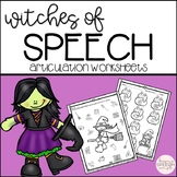 Witchy Speech No Prep Articulation Worksheets