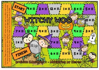 Witchy Woo Multiplication Board Game x11 Facts