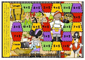Ahoy Matey Multiplication Board Game x5 Facts