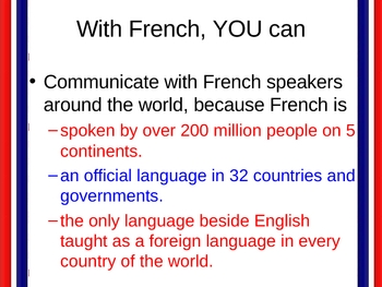 With French, YOU can...