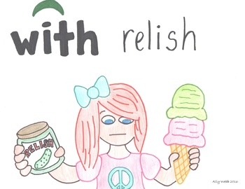 With Relish Cartoon--Printable Montessori Preposition/Grammar/Idiom Cards