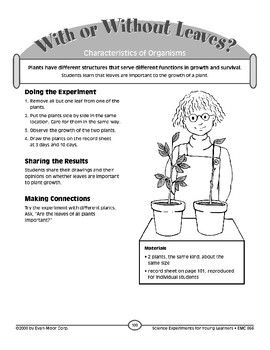 With or Without Leaves? (Characteristics of Organisms)