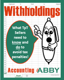 Withholdings: What TpT Sellers Need to Know and Do to Avoid Tax Penalties