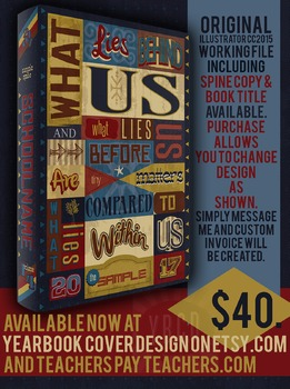 Within Us 2017 Yearbook Theme Cover Design