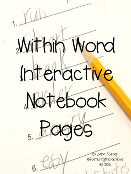 Word Study Interactive Notebook-Within Word