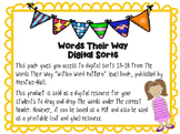 Within Word Pattern Digital Spelling Sorts 13-18 (Common Long Vowel Patterns)