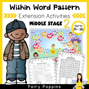 Within Word Pattern Games & Worksheets (Unit 5) R Influenced Vowels
