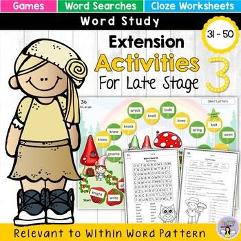 Within Word Pattern Games & Worksheets (Unit 6) Dipthongs
